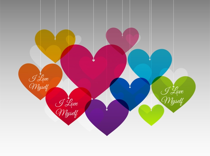 colorful-hearts-i-love-myself