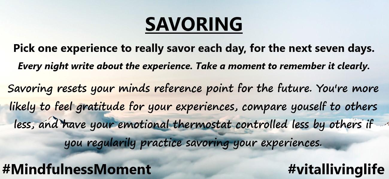 savoring