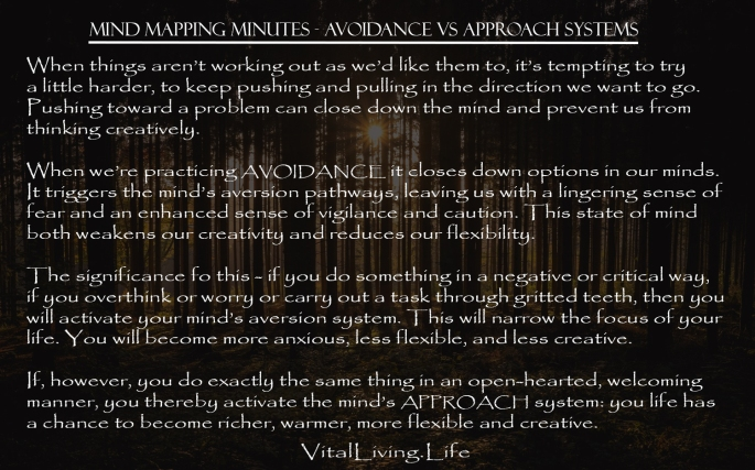 MIND MAPPING MINS AVERSION VS APPROACH SYSTEMS